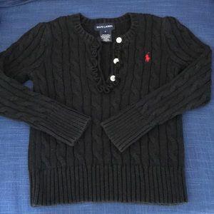 Ralph Lauren Navy  Sweater Red Pony size 5